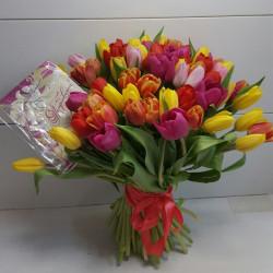 Букет «51 тюльпан»